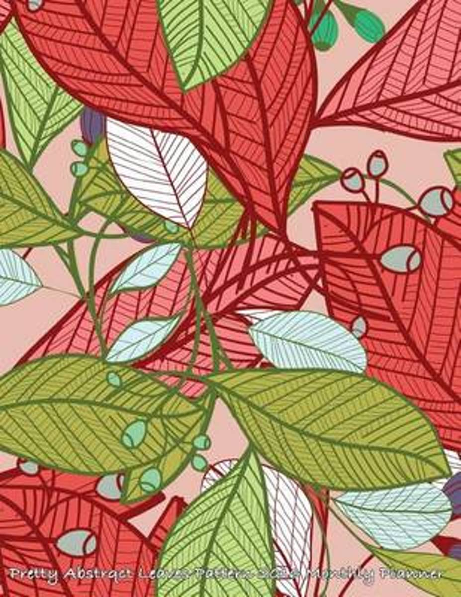 Pretty Abstrqct Leaves Pattern 2016 Monthly Planner
