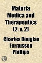Materia Medica And Therapeutics