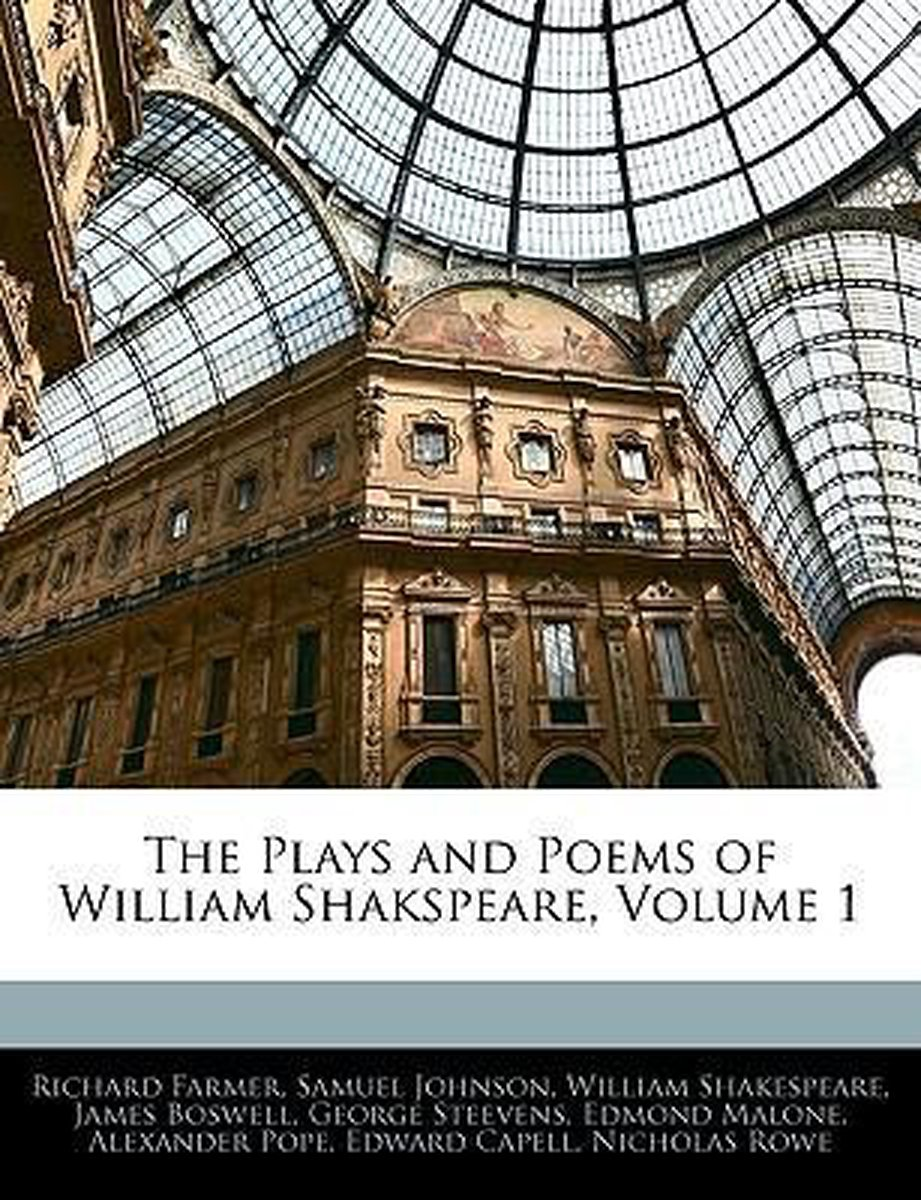 The Plays and Poems of William Shakspeare, Volume 1