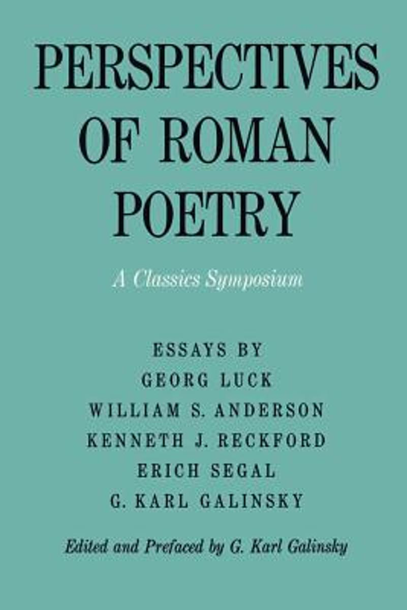 Perspectives of Roman Poetry