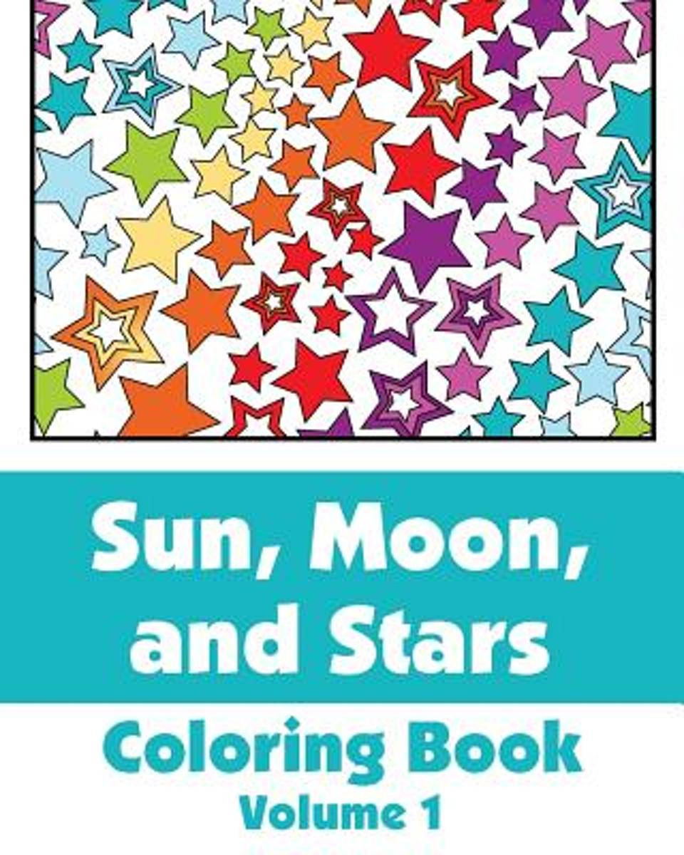 Sun, Moon, and Stars Coloring Book (Volume 1)