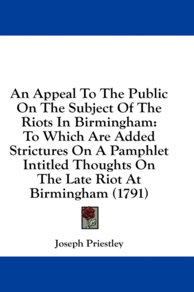 An Appeal to the Public on the Subject of the Riots in Birmingham