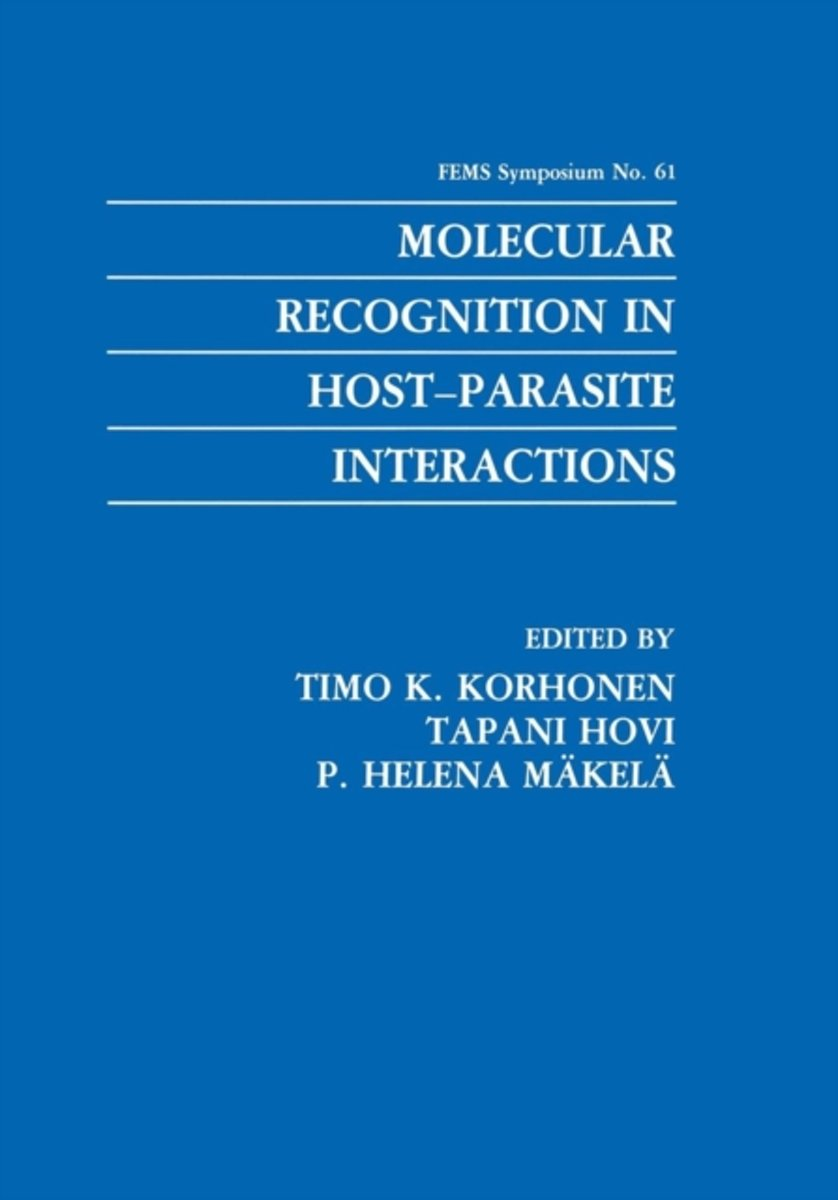 Molecular Recognition in Host-Parasite Interactions