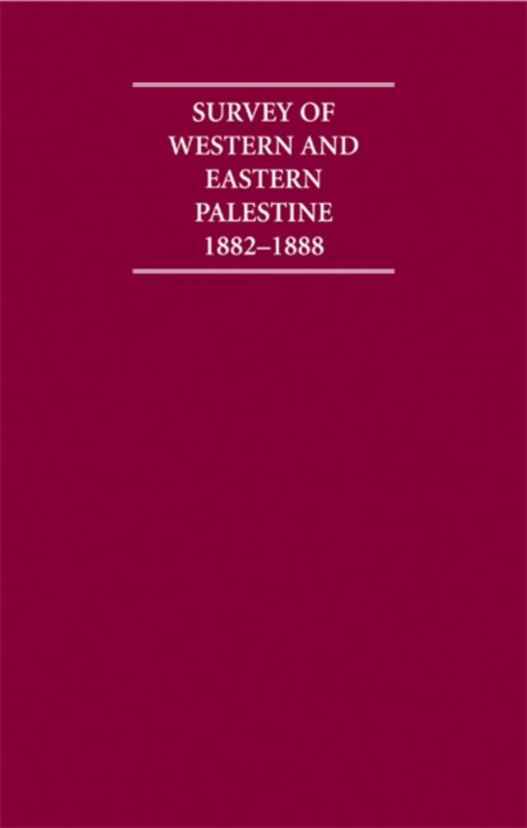 Survey of Western Palestine 1882-1888 13 Volume Hardback Set Including Paperback Introduction, Boxed Maps and Printed Plates