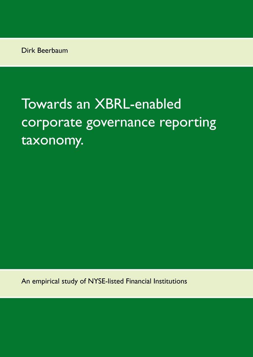 Towards an XBRL-enabled corporate governance reporting taxonomy.