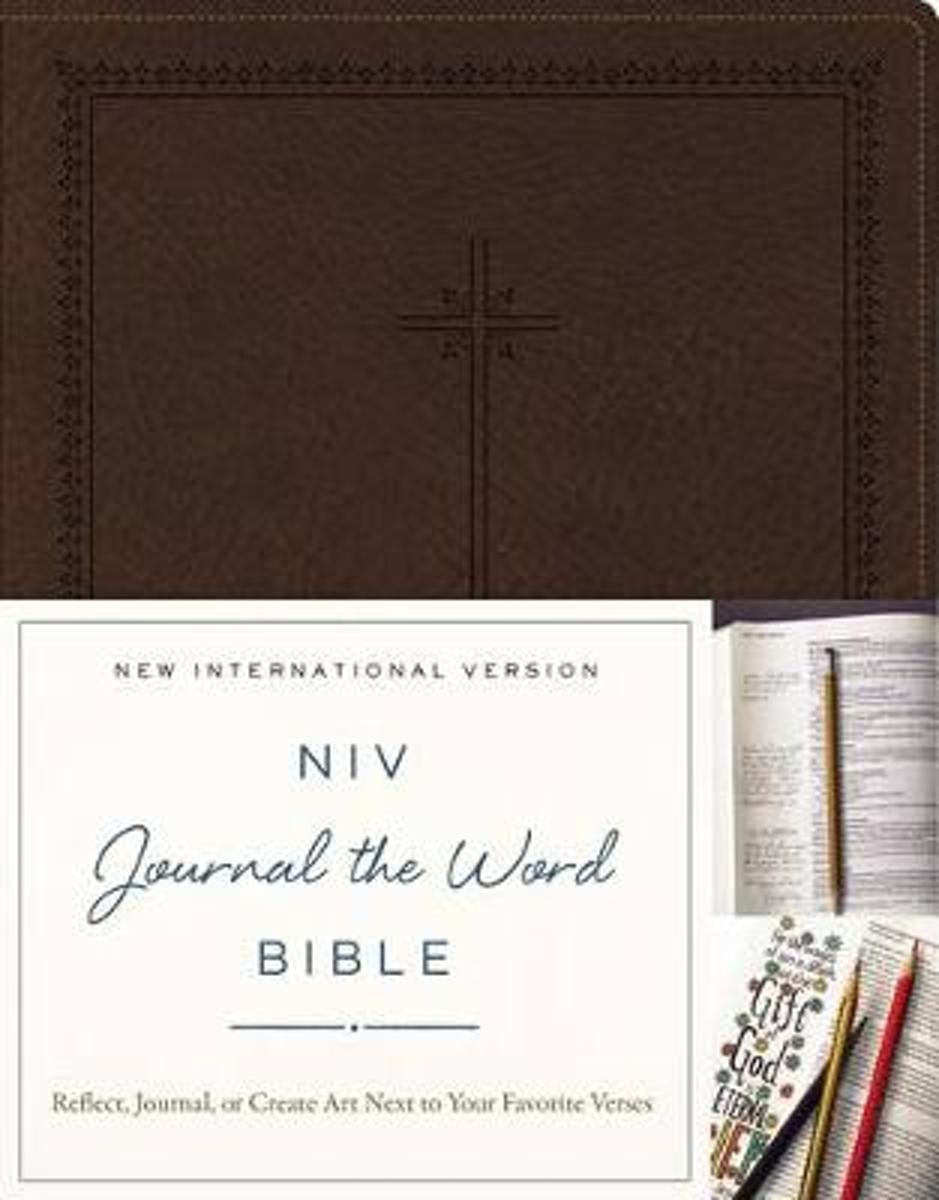 NIV, Journal the Word Bible, Leathersoft, Brown