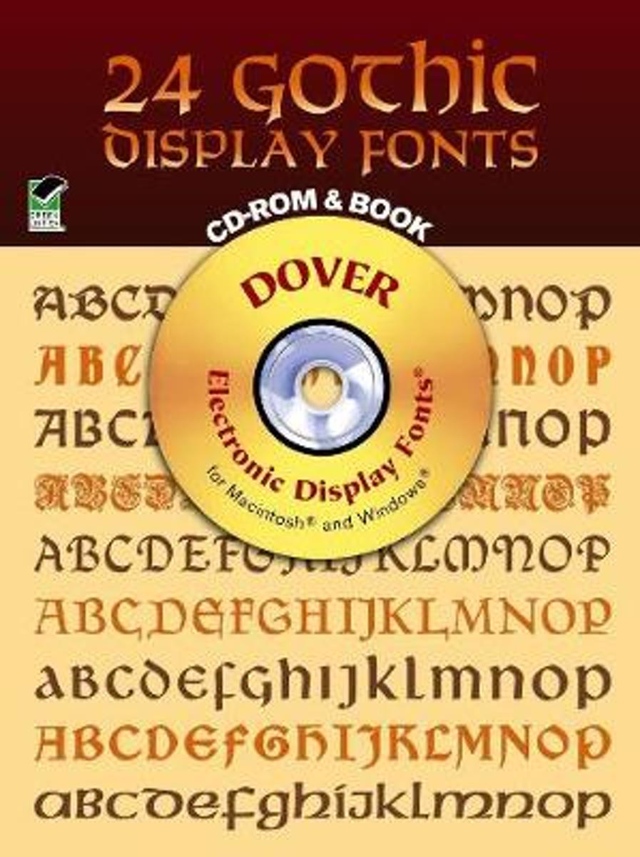 24 Gothic Display Fonts - CD-Rom and Book