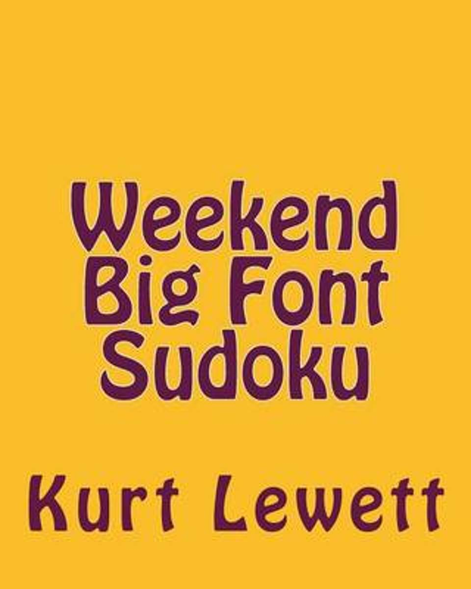 Weekend Big Font Sudoku
