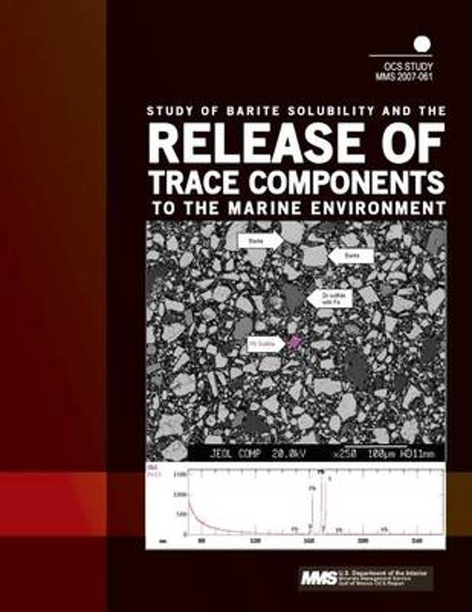 Study of Barite Solubility and the Release of Trace Components to the Marine Environment
