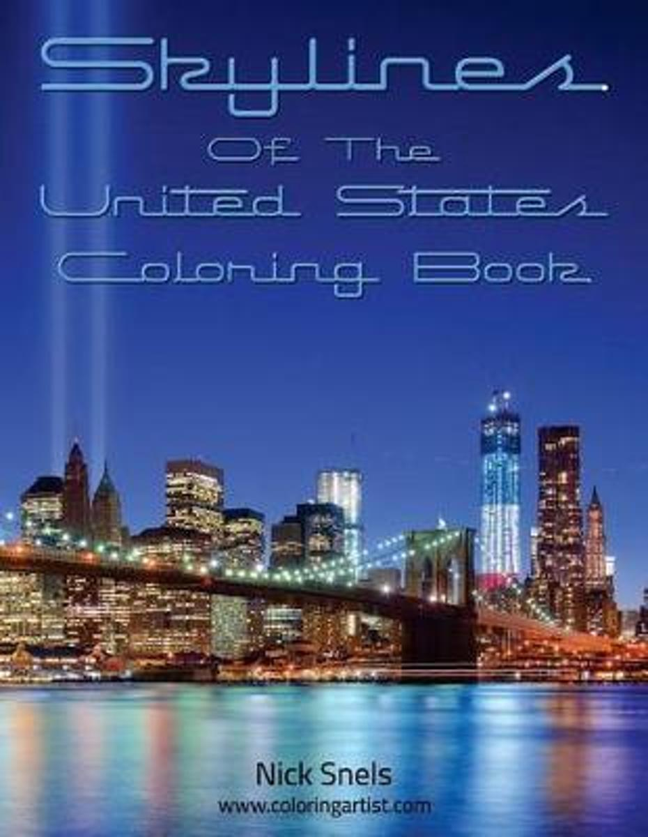 Skylines of the United States Coloring Book