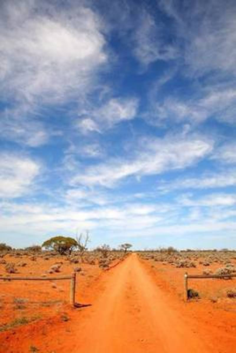 Outback Road in Australia Journal