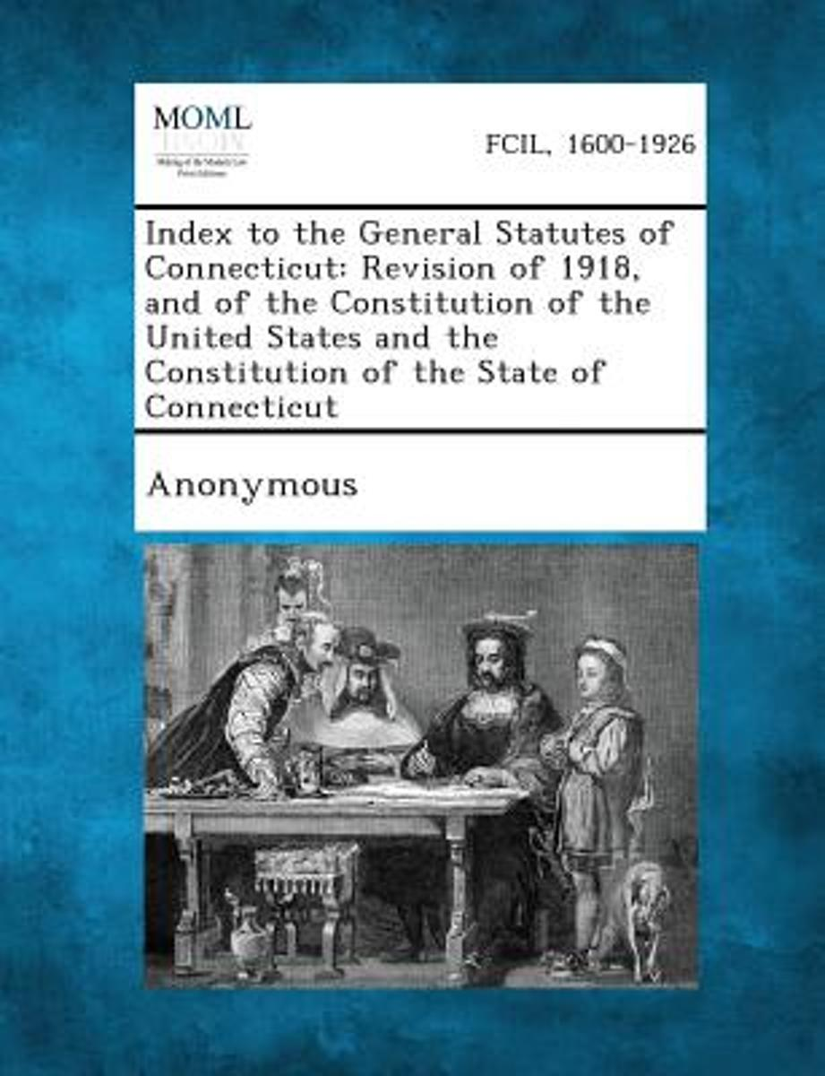 Index to the General Statutes of Connecticut