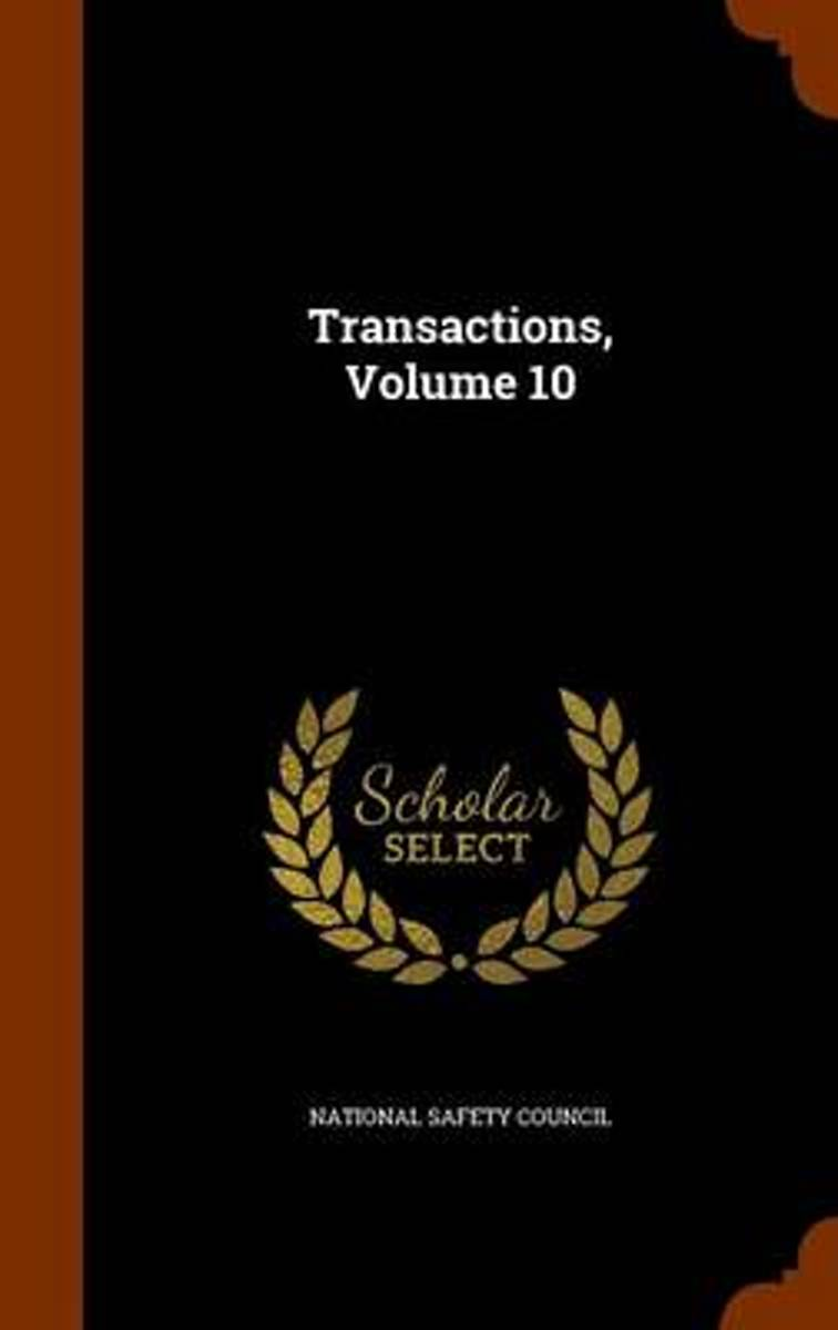 Transactions, Volume 10 image