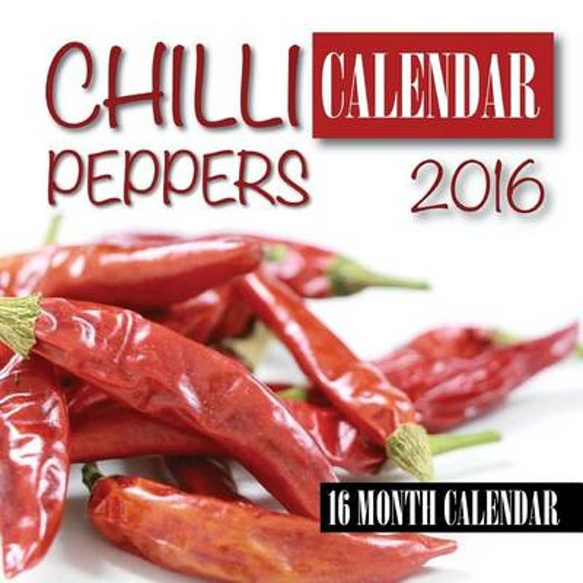 Chili Peppers Calendar 2016