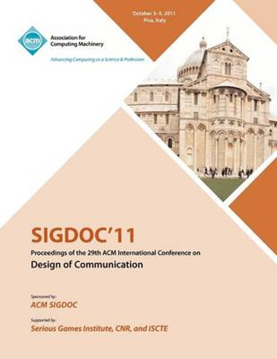 Sigdoc 11 Proceeding of the 29th ACM International Conference on Design of Communications