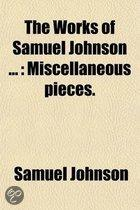 The Works of Samuel Johnson (Volume 5); Miscellaneous Pieces