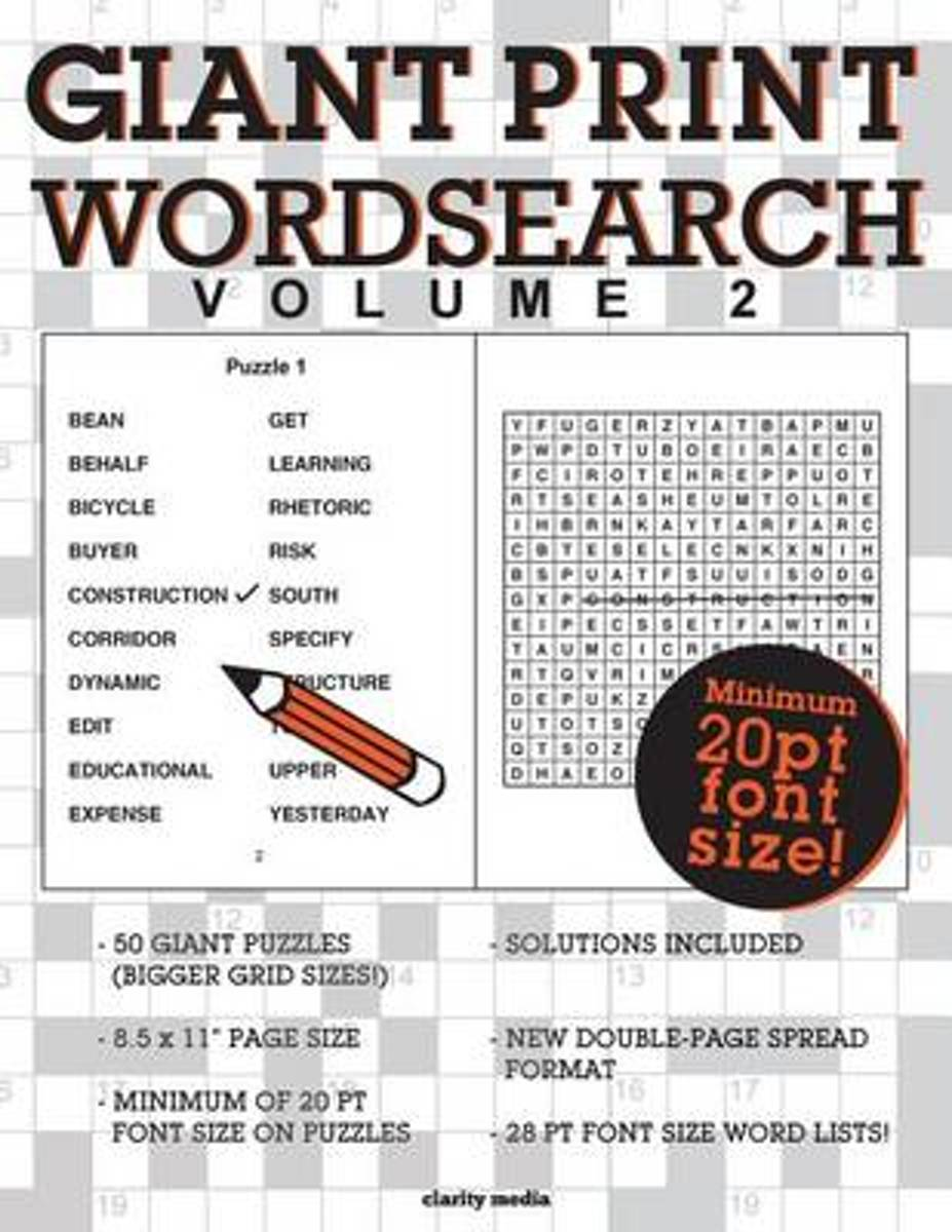 Giant Print Wordsearch Volume 2