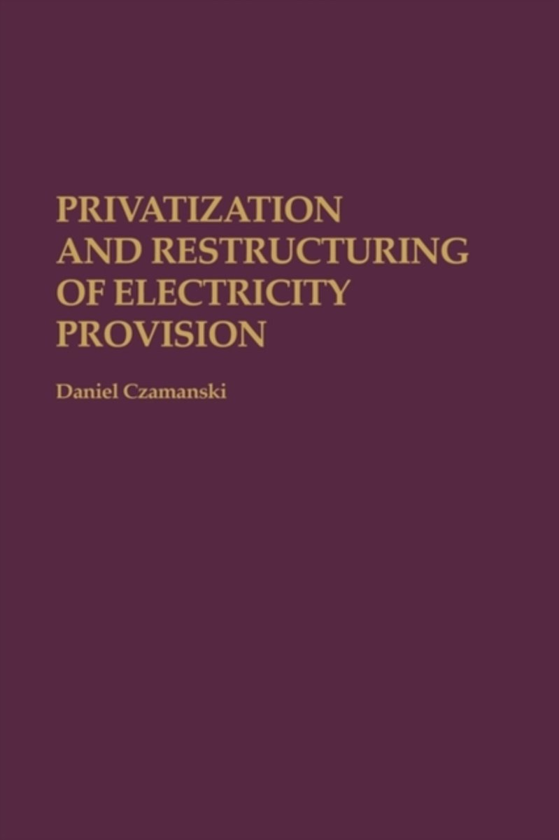 Privatization and Restructuring of Electricity Provision
