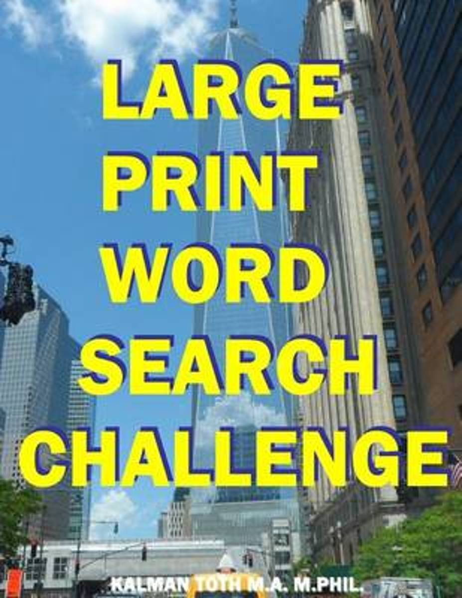 Large Print Word Search Challenge