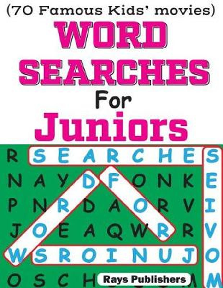 Word Searches for Juniors (70 Famous Kids Movies)
