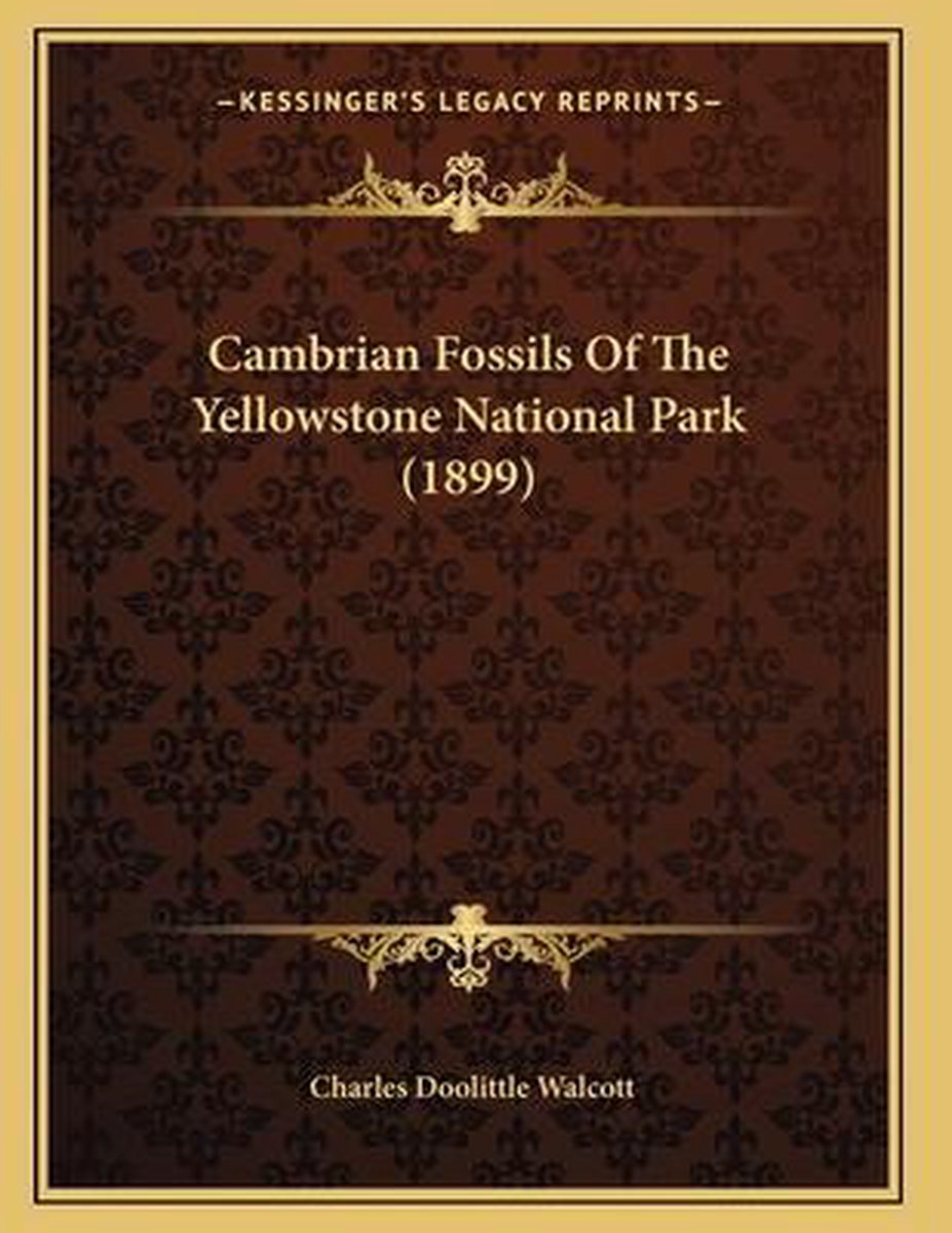 Cambrian Fossils of the Yellowstone National Park (1899)