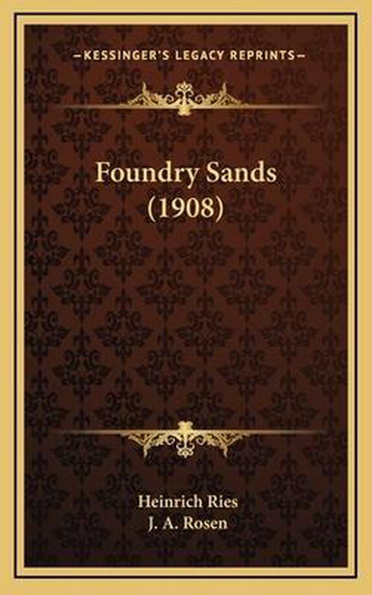 Foundry Sands (1908)