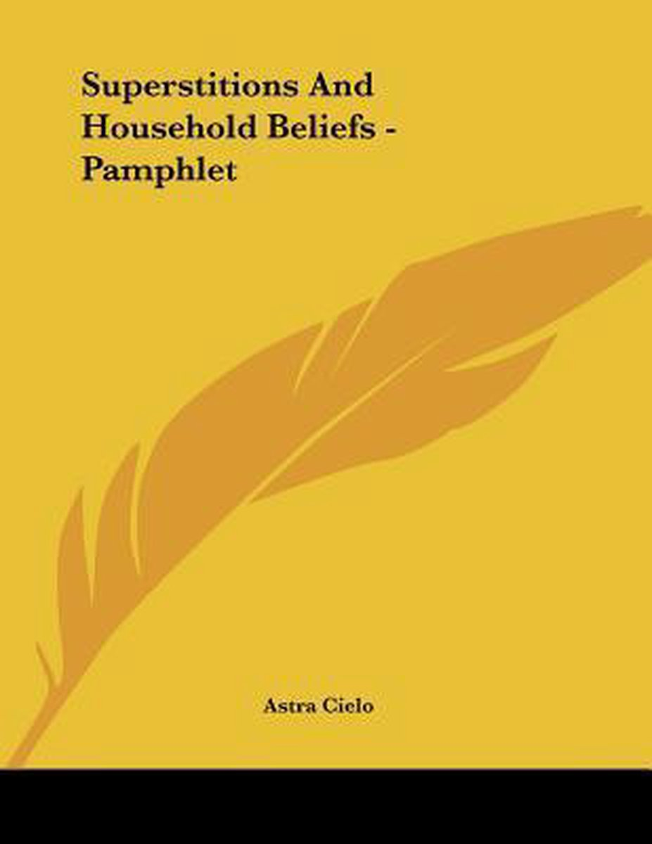 Superstitions and Household Beliefs - Pamphlet