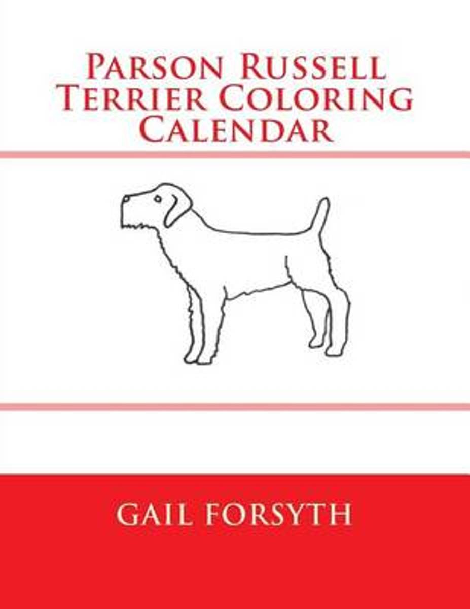 Parson Russell Terrier Coloring Calendar