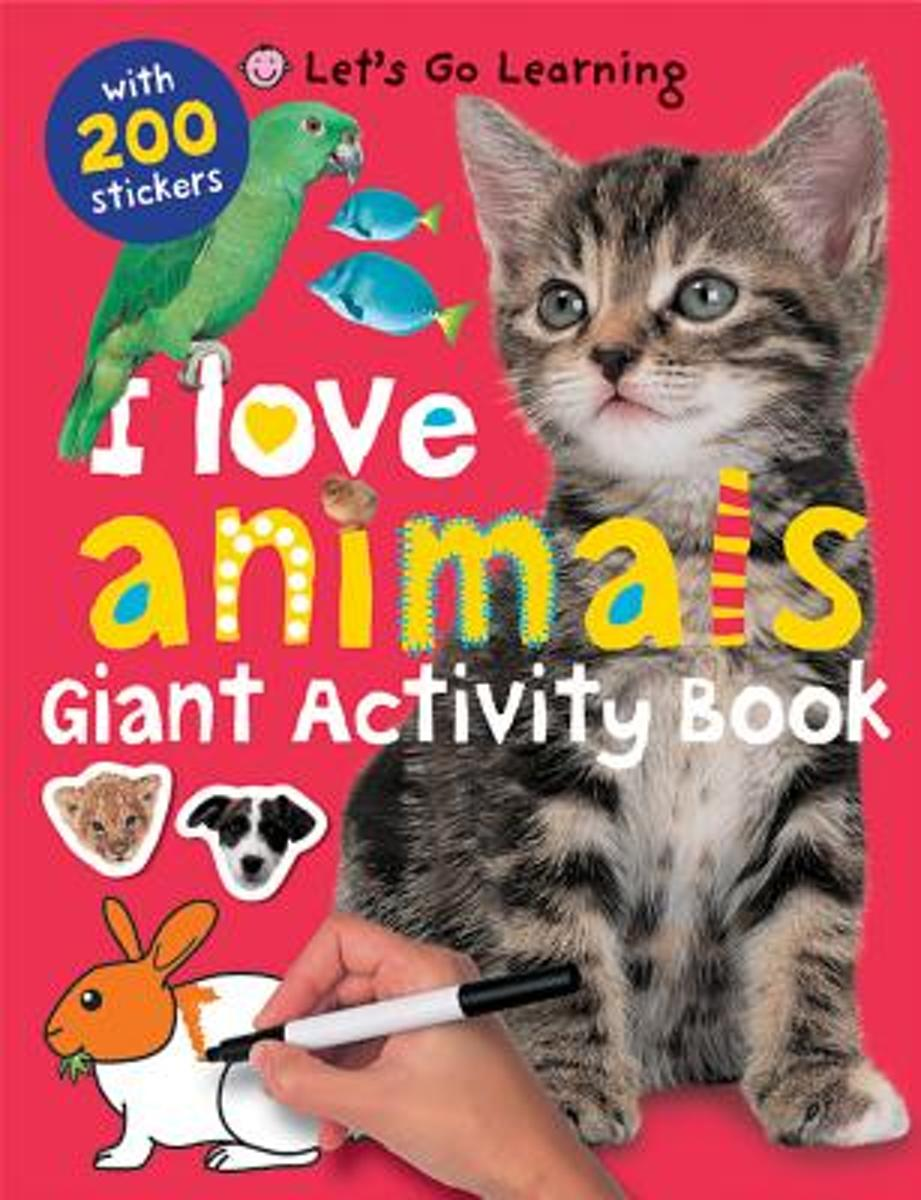 I Love Animals Giant Activity Book