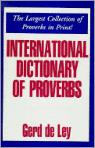 International Dictionary Of Proverbs