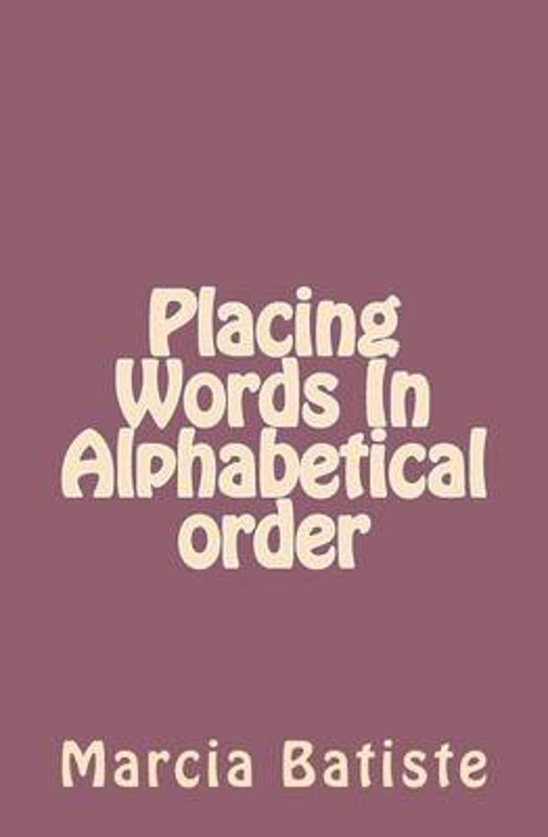 Placing Words in Alphabetical Order