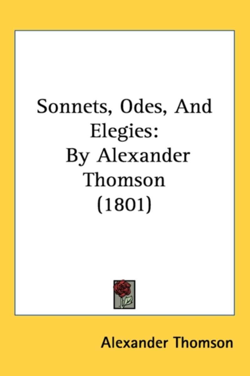 Sonnets, Odes, And Elegies