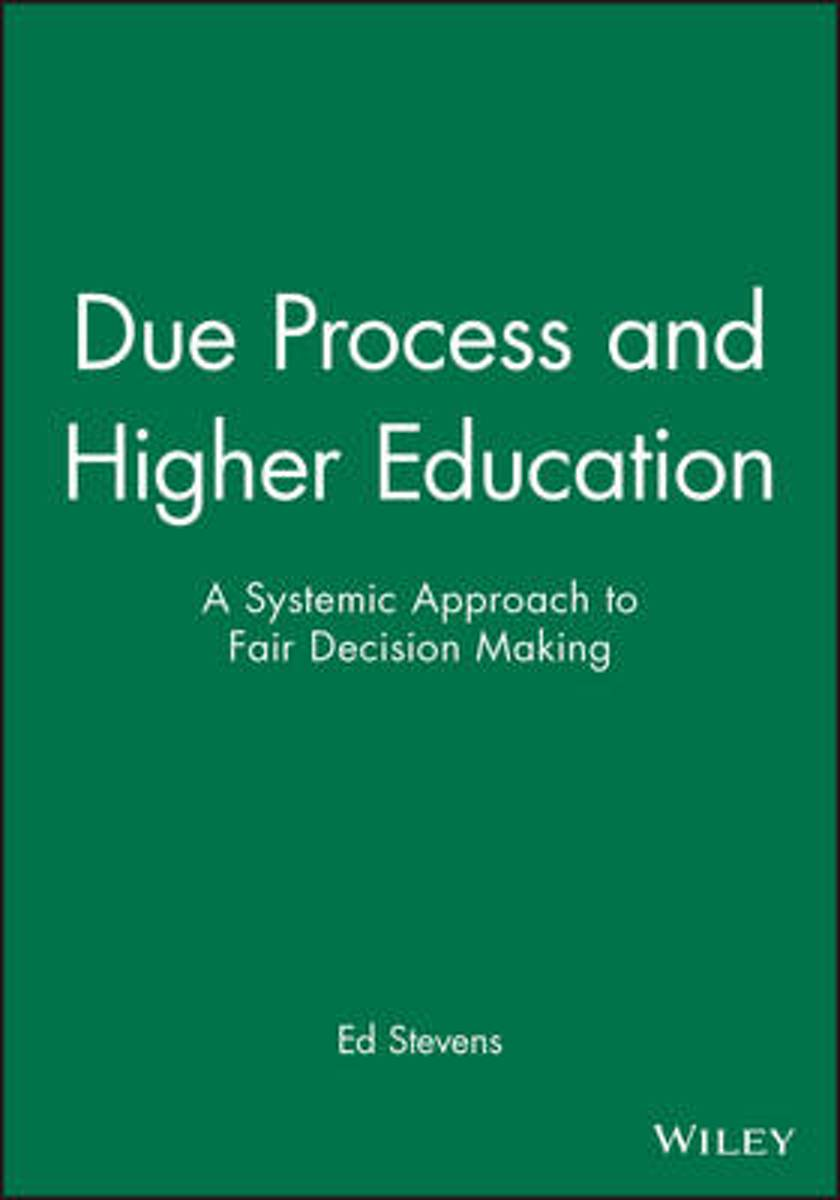 Due Process in Higher Education