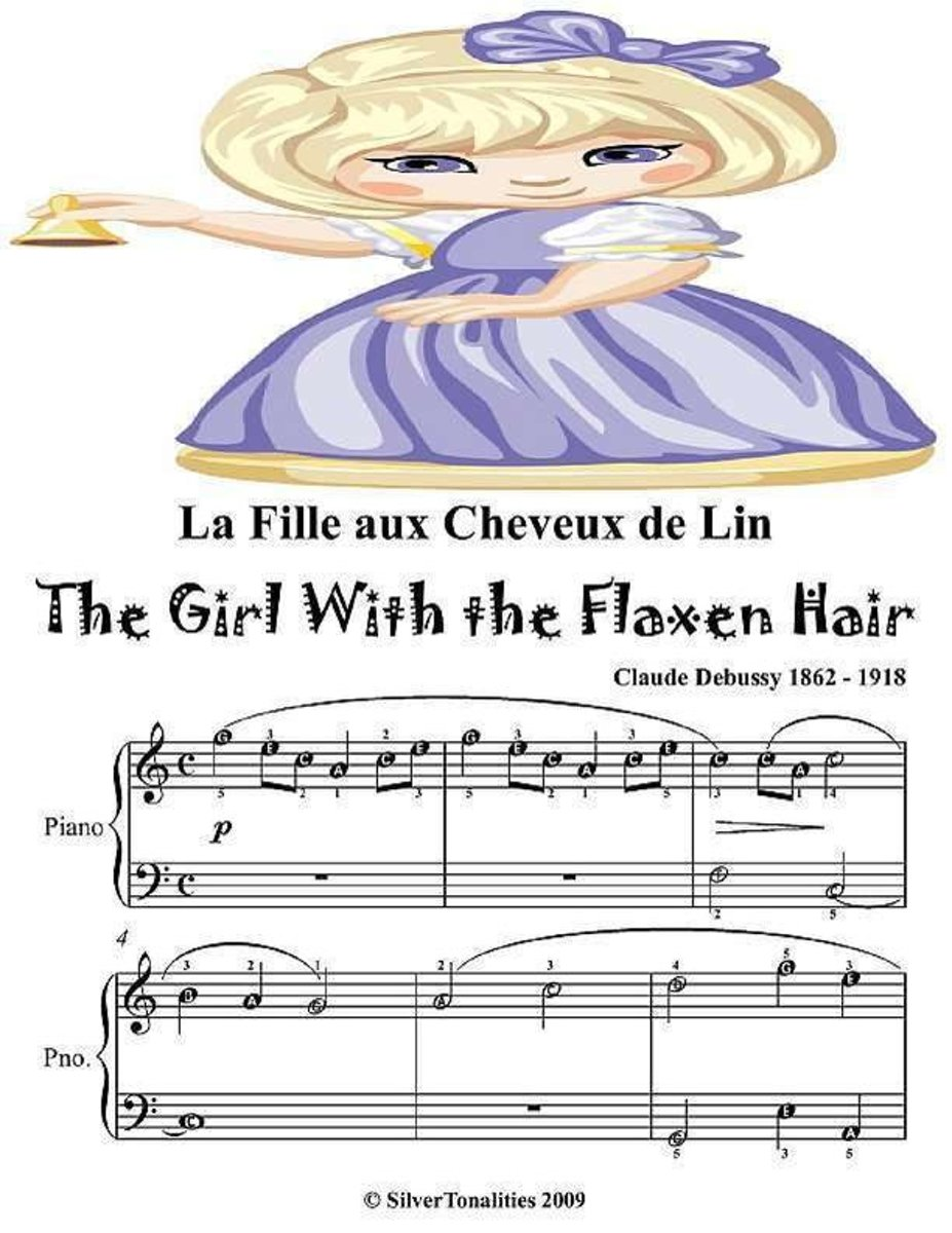 La Fille Aux Cheveux De Lin Girl With the Flaxen Hair - Easy Piano Sheet Music