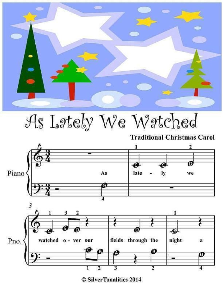 As Lately We Watched - Beginner Tots Piano Sheet Music