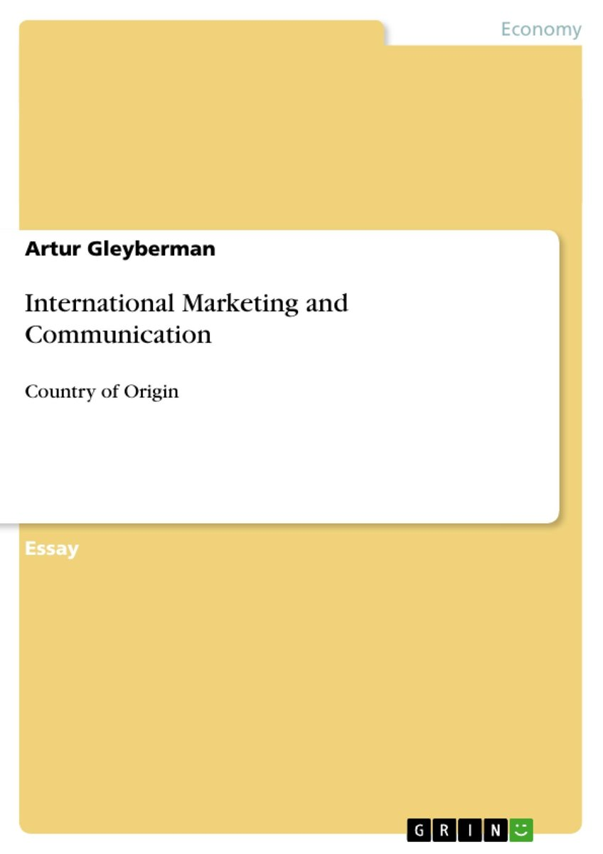 International Marketing and Communication