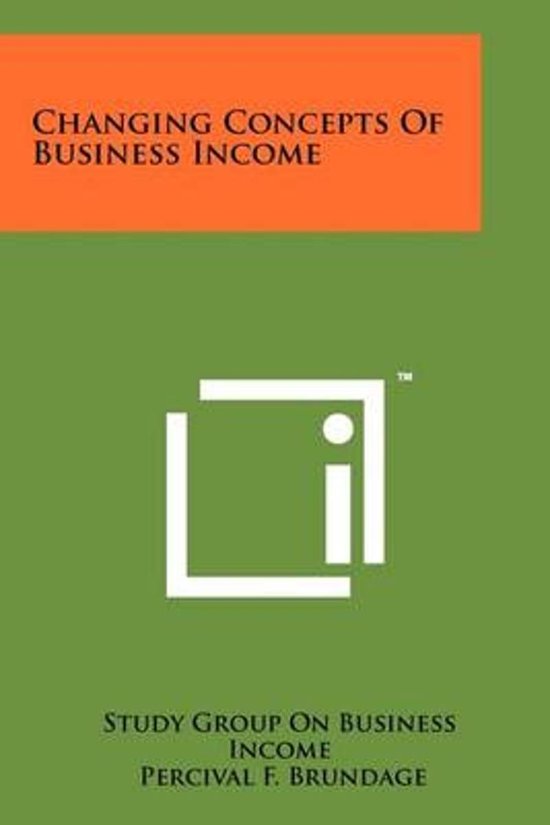Changing Concepts of Business Income