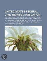 United States Federal Civil Rights Legislation: Don'T Ask, Don'T Tell