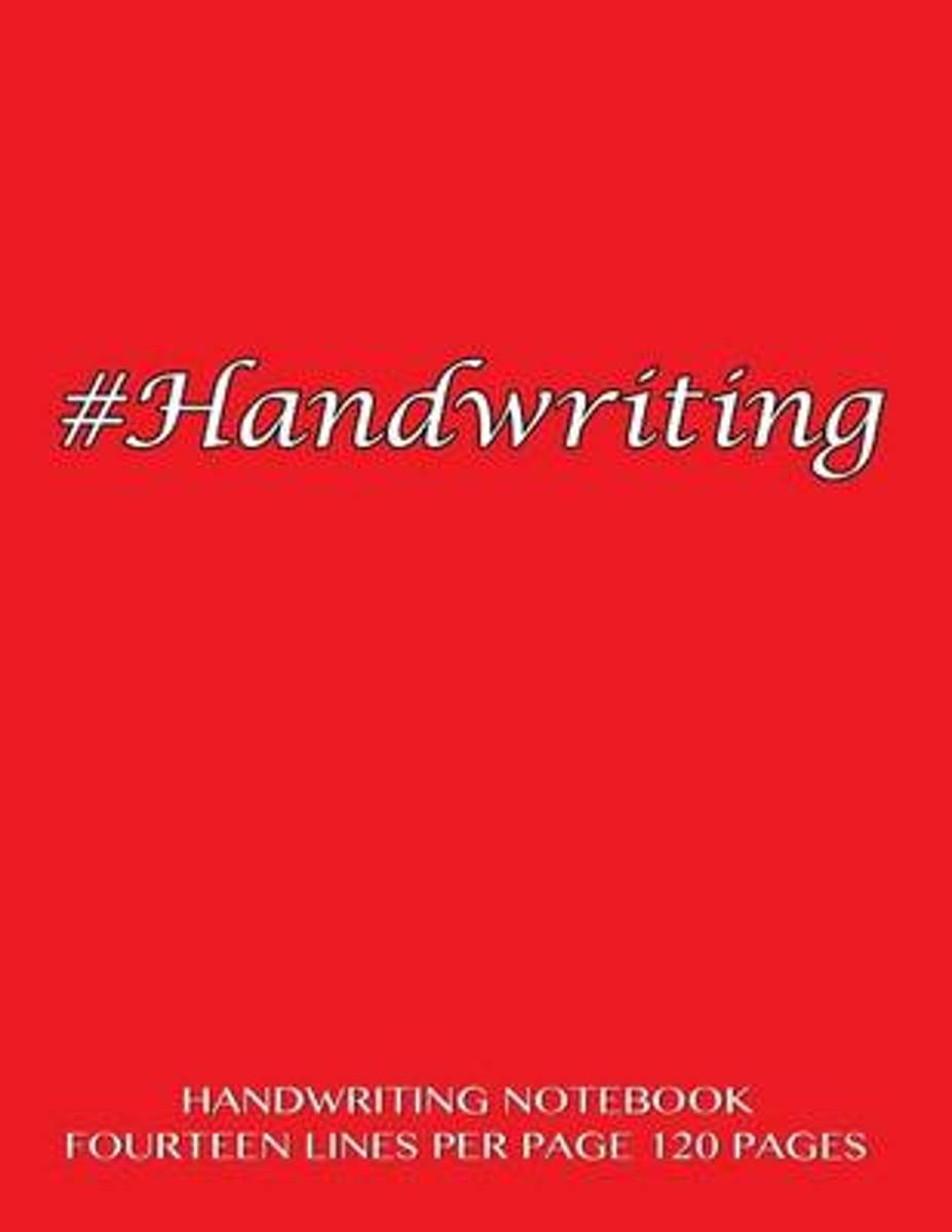 Handwriting Notebook - Fourteen Lines Per Page, 120 Pages