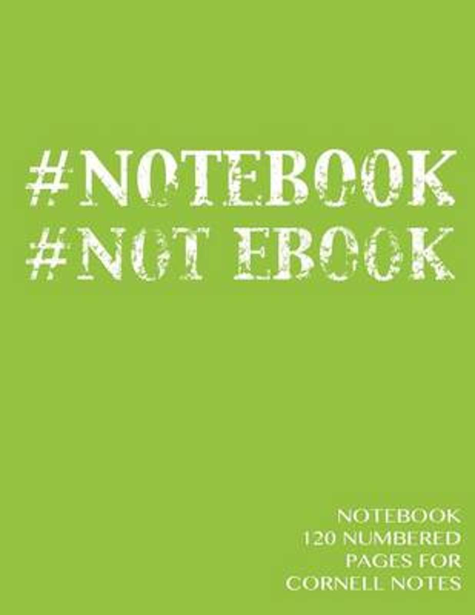 Notebook 120 Numbered Pages for Cornell Notes