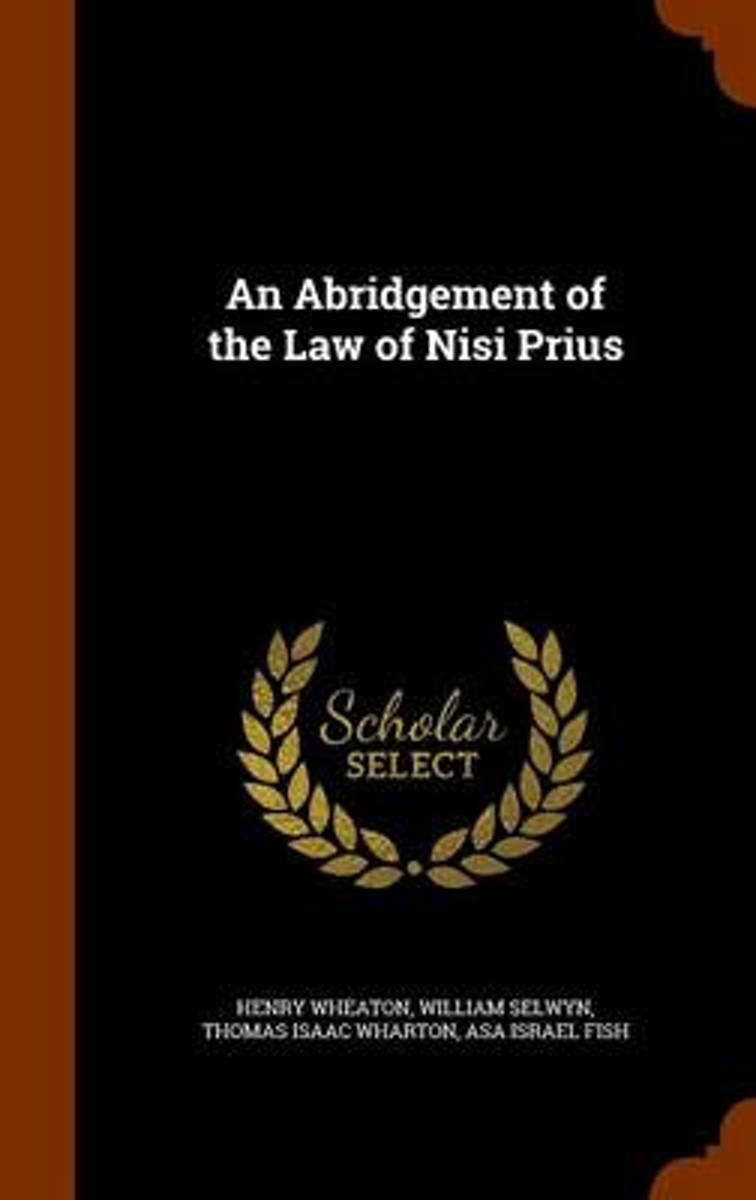 An Abridgement of the Law of Nisi Prius