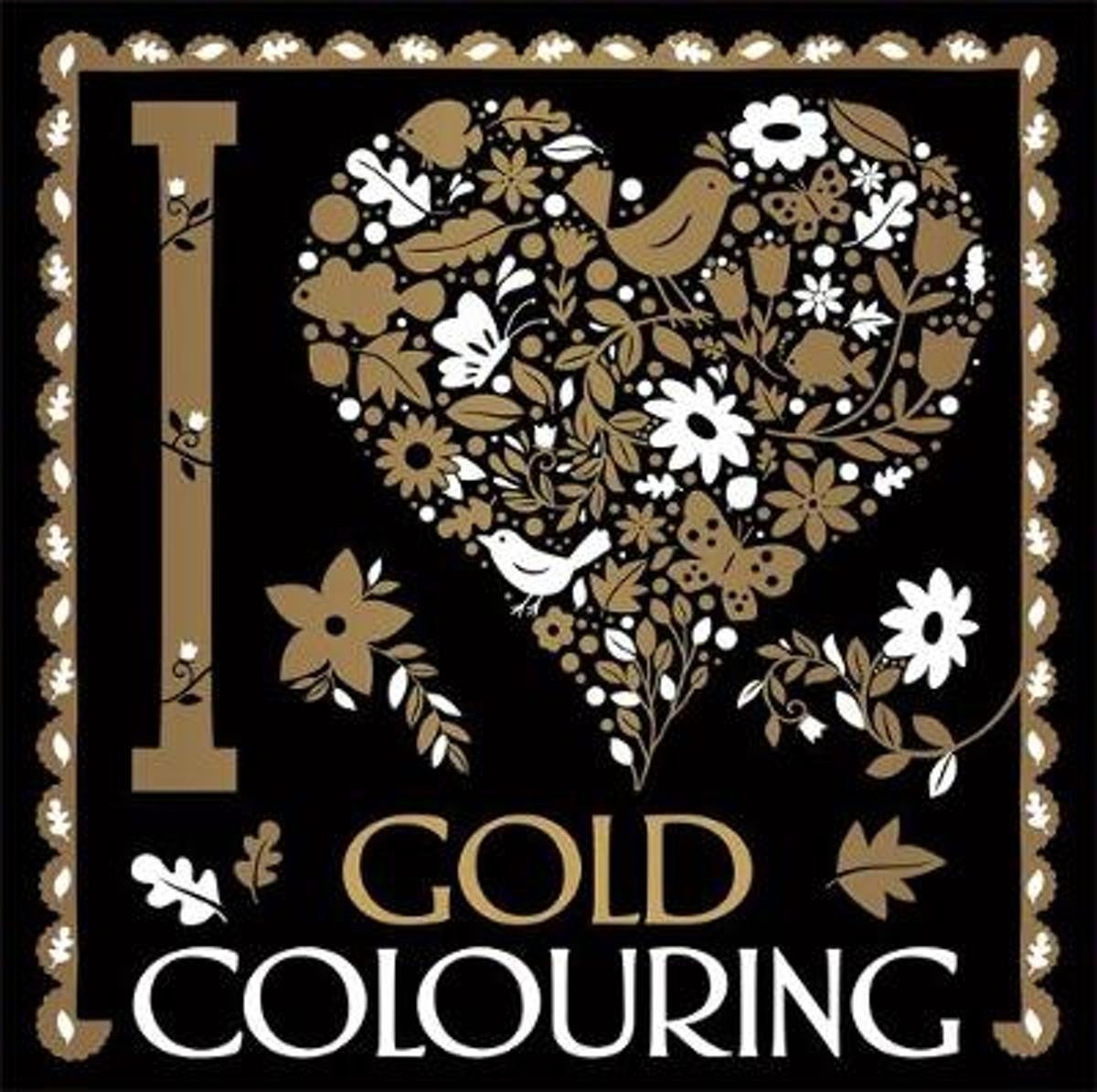 I Heart Gold Colouring