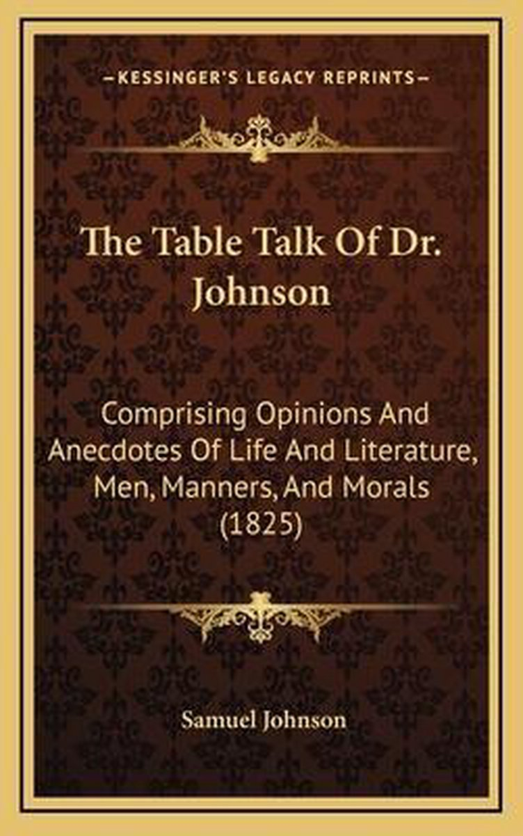The Table Talk of Dr. Johnson