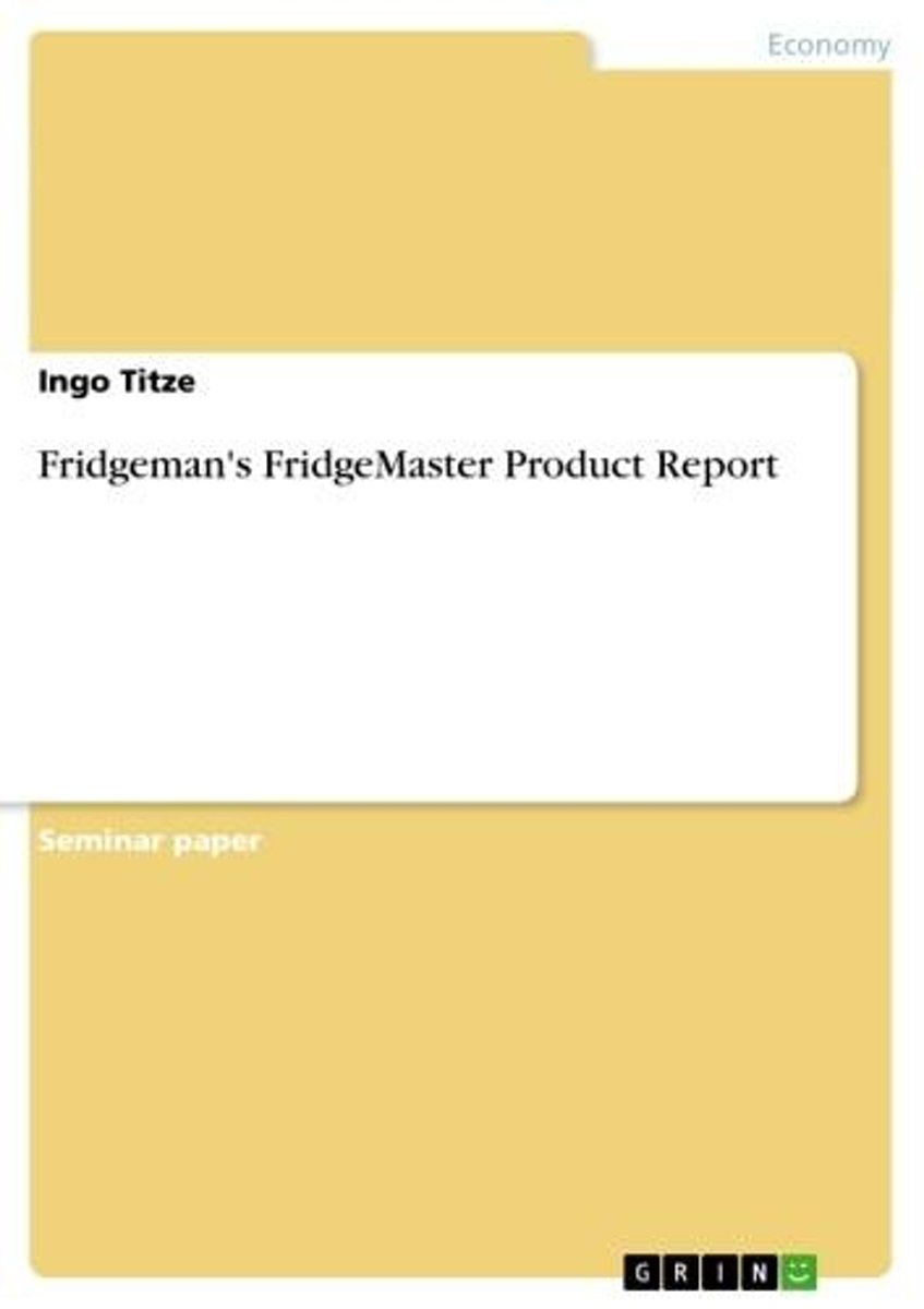 Fridgeman's FridgeMaster Product Report