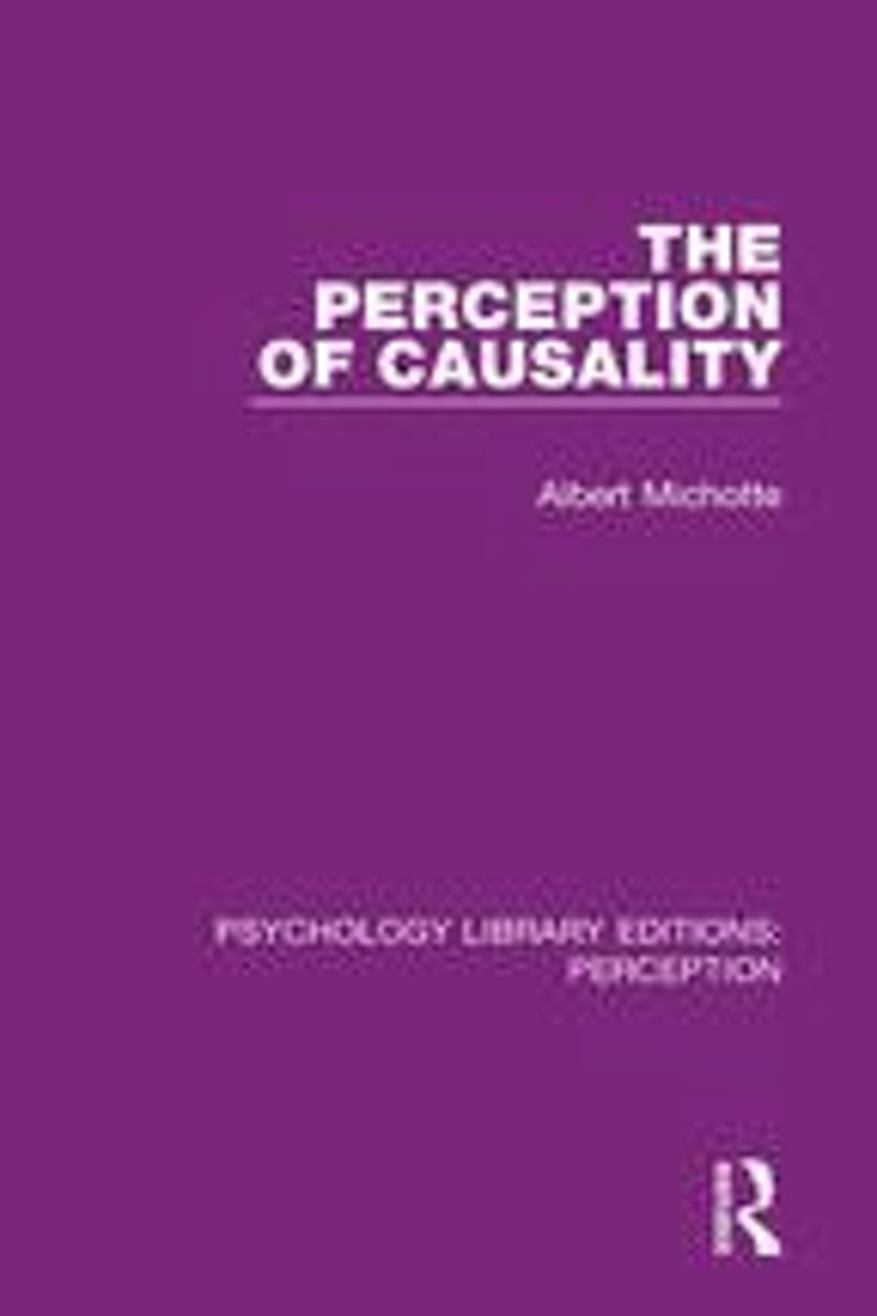 The Perception of Causality