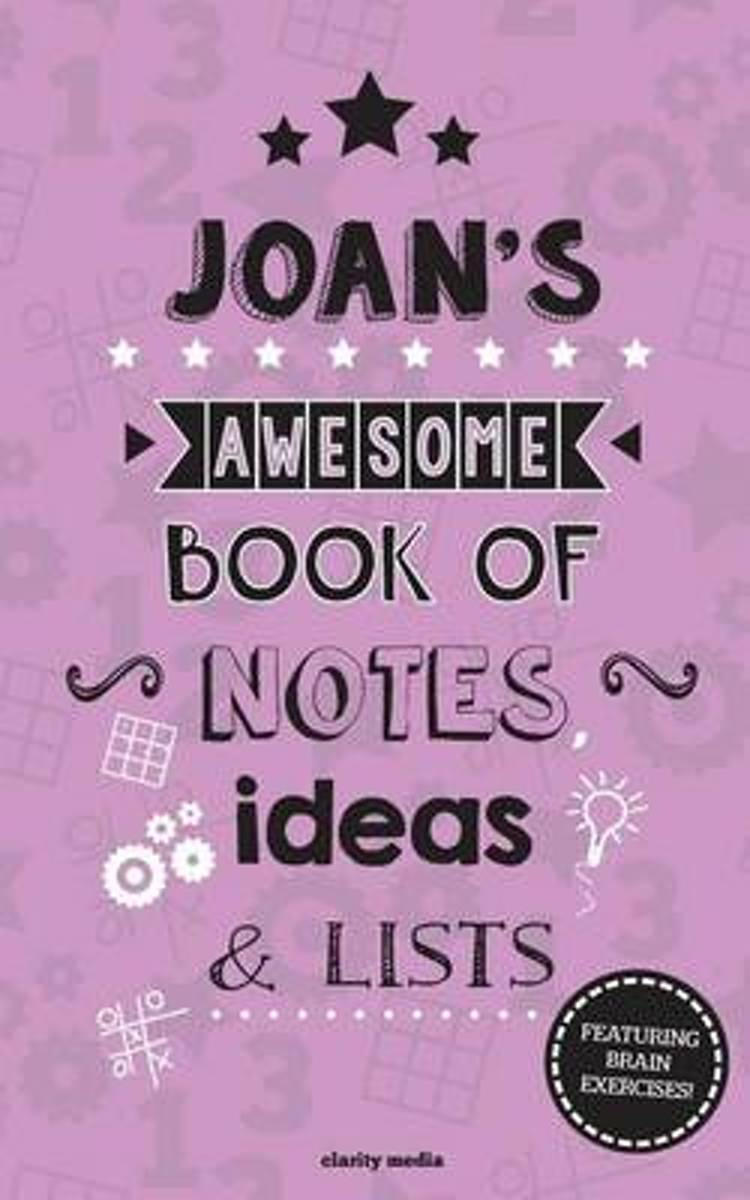 Joan's Awesome Book of Notes, Lists & Ideas