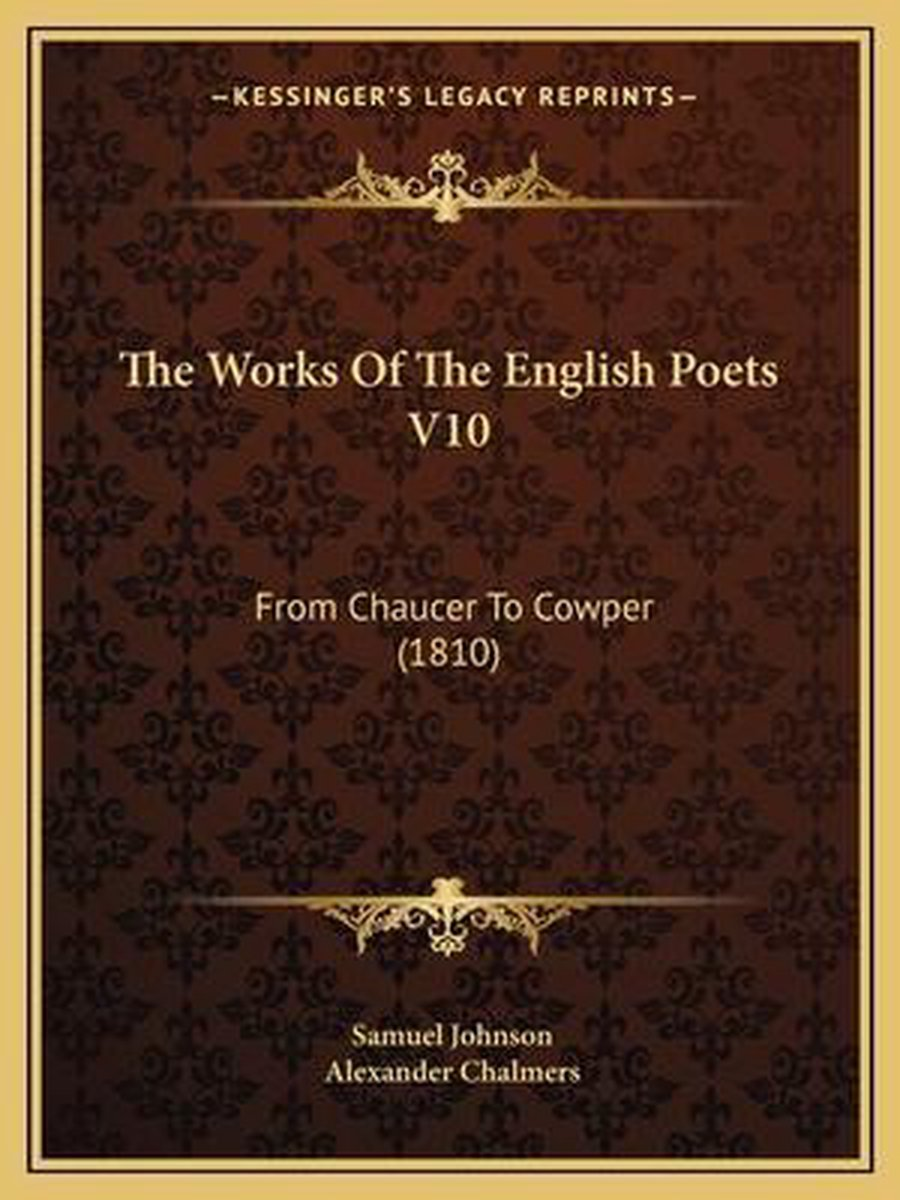 The Works of the English Poets V10