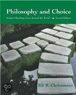 Philosophy and Choice