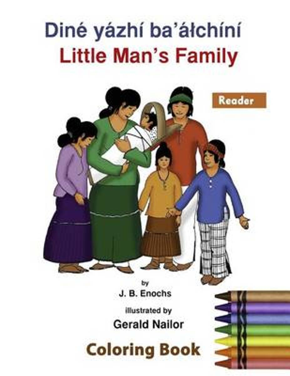 Little Man's Family Coloring Book