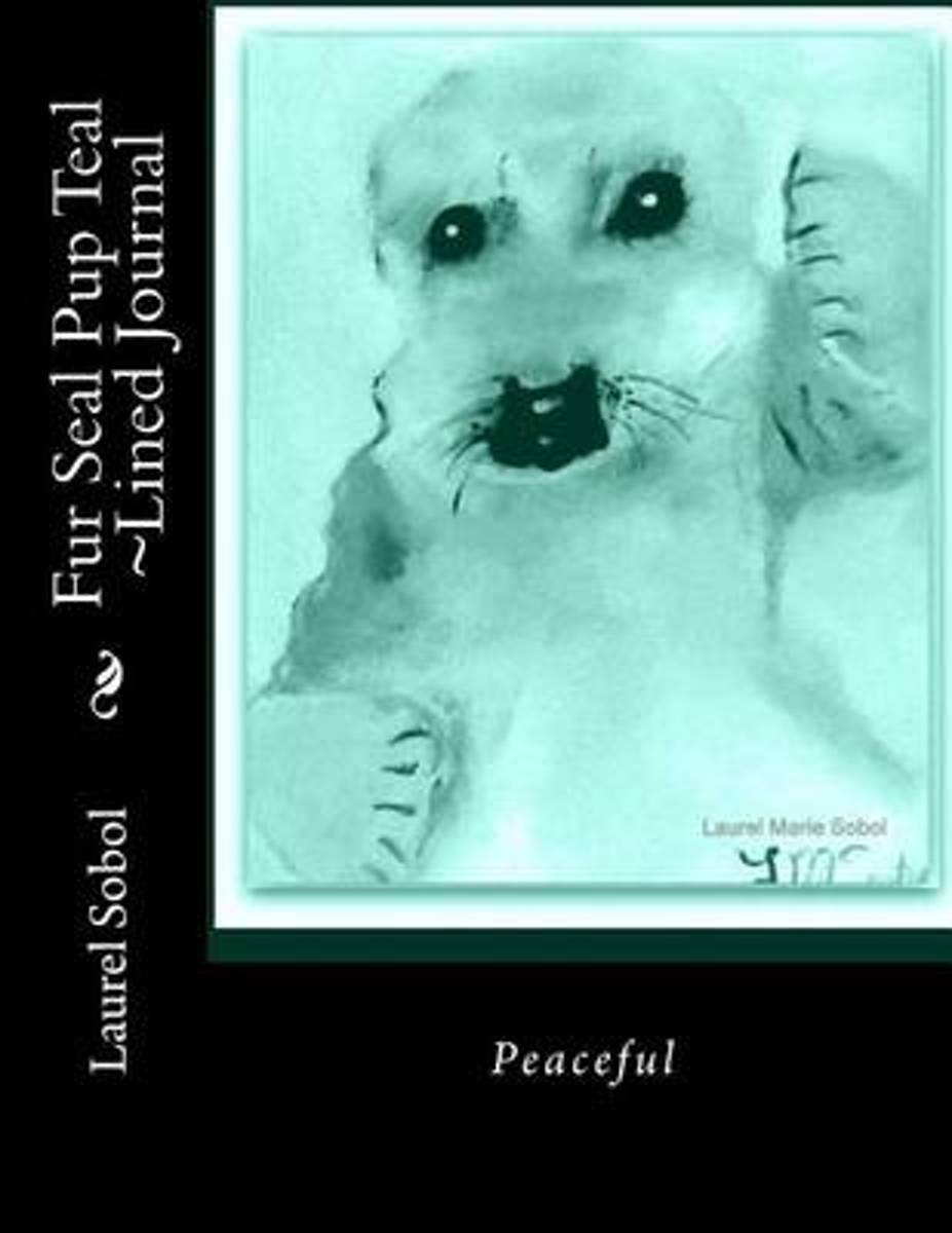 Fur Seal Pup Teal Lined Journal